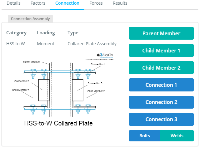 a collared plate has 3 connections that can be edited