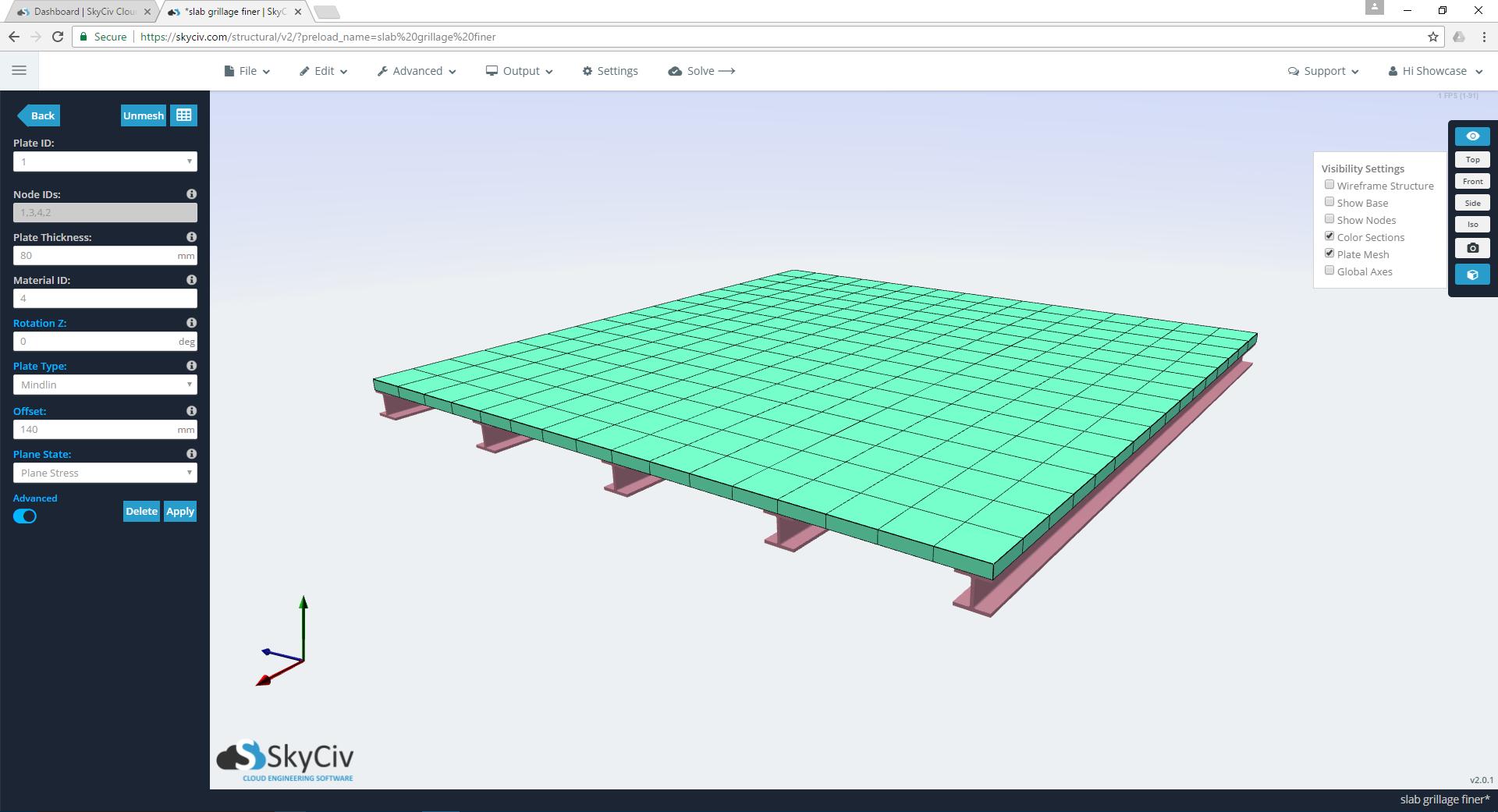 SkyCiv Interactive 3D Renderer