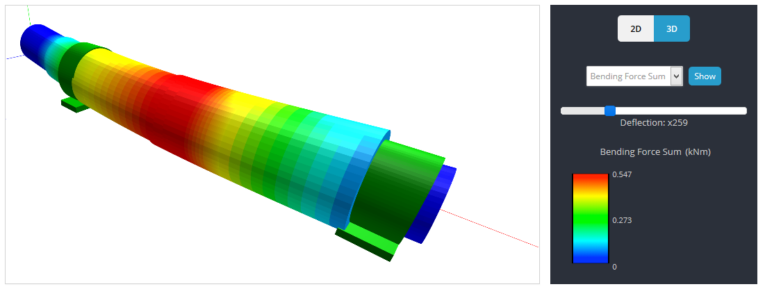 3D rendering of a shaft, using skyciv shaft analysis software