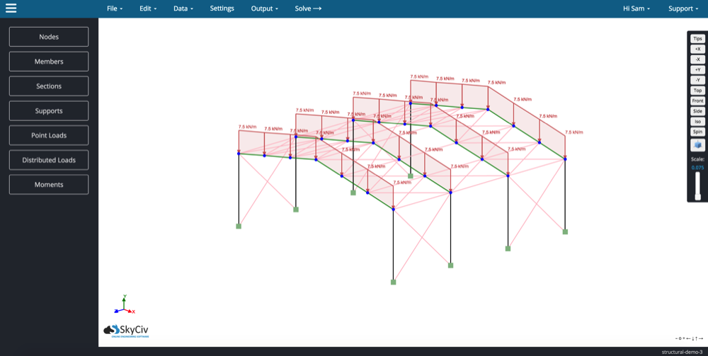 Free Online Truss Calculator Skyciv Cloud Engineering: online building estimator