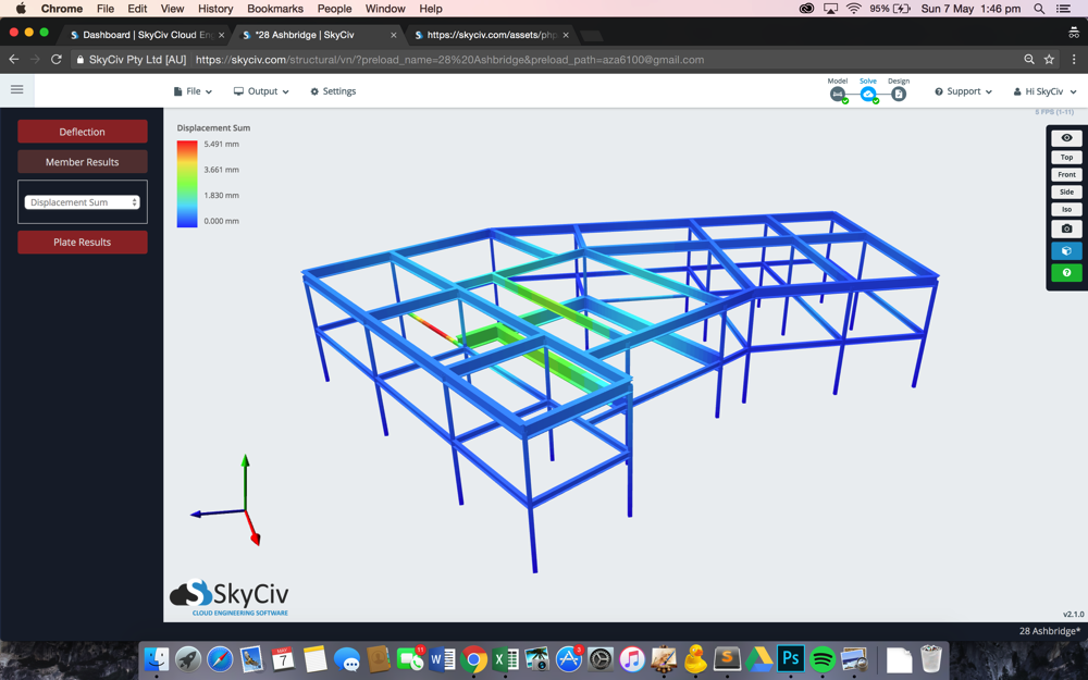 Skyciv structural 3d skyciv cloud structural analysis software skyciv structural analysis software here showing structural design of aisc 360 ccuart Images