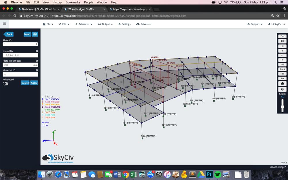 Skyciv 3d estructural nube software estructural - Programas para 3d ...