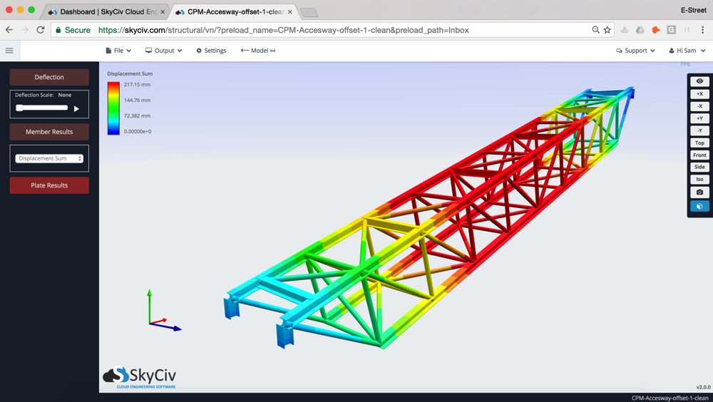 Superior Structural Analysis Software 3D Renderer Screenshot