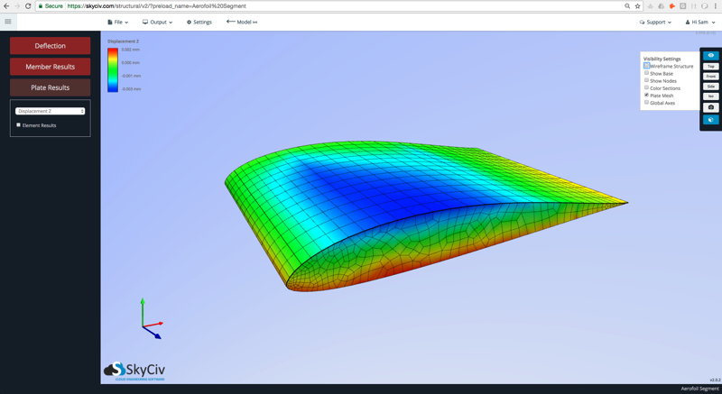 Structural Plate Analysis using cloud engineering software