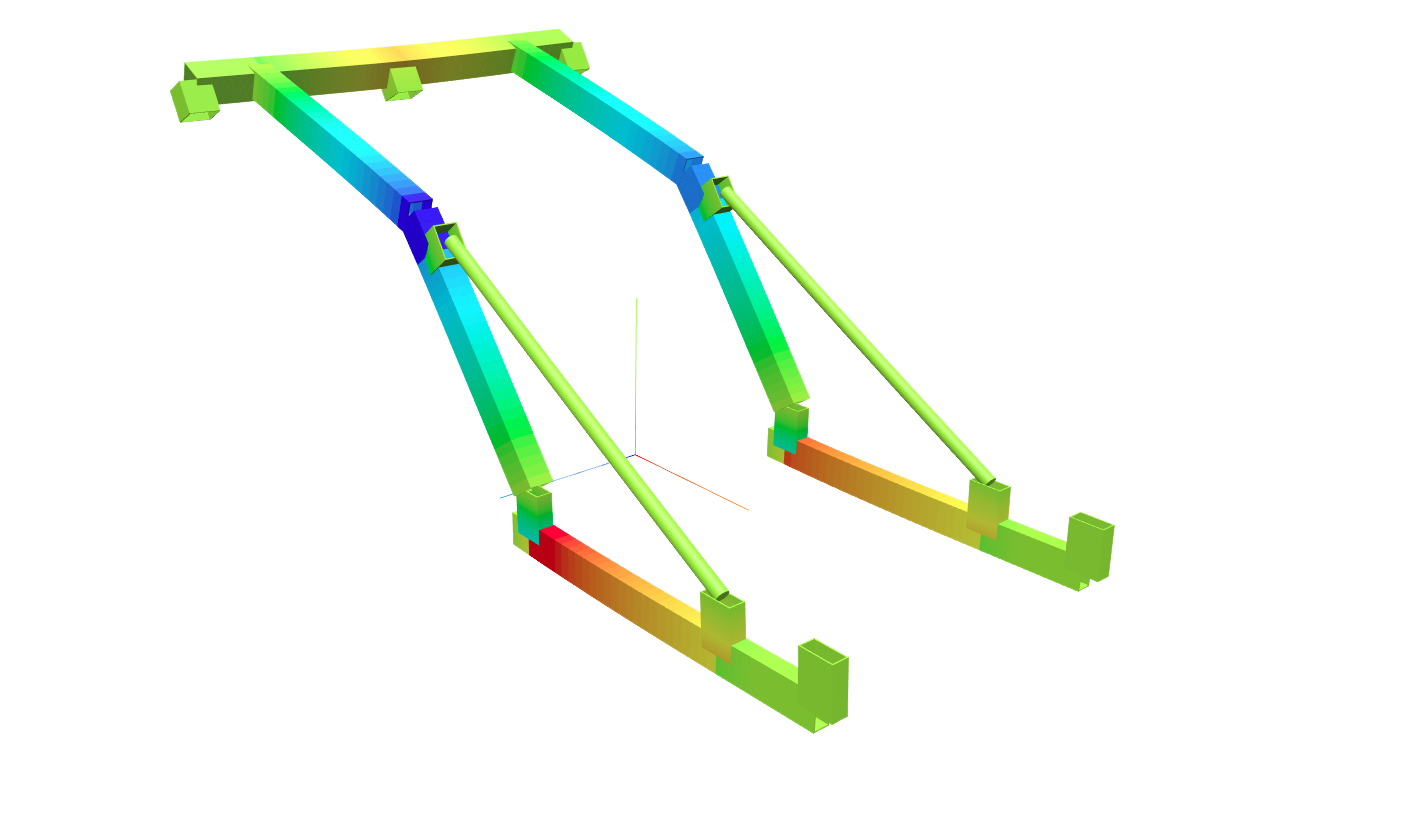 Structural Analysis Software 3D Renderer Screenshot