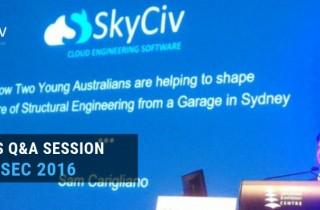 SkyCiv's Q&A Session at ASEC 2016