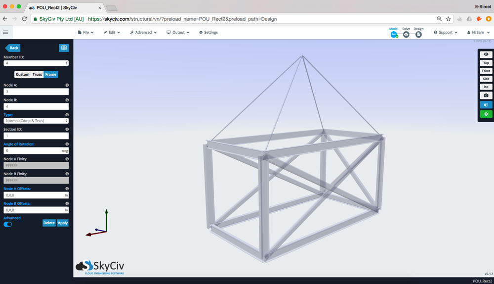 SkyCiv Cloud Structural Analysis Software – Offshore Skid Car