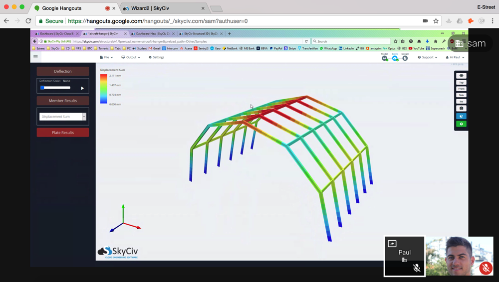Google hangouts - skyciv structural engineering meeting