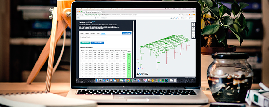 Mock up of Eurocode-3 Design software for structural