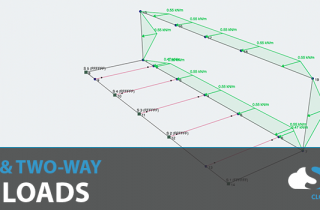 Area loads in structural analysis software