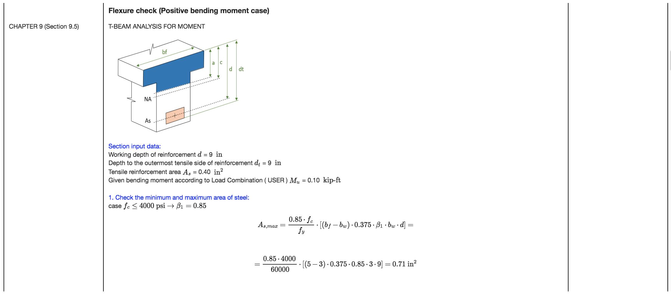 Skyciv has full detailed pdf calculations of ACI-318