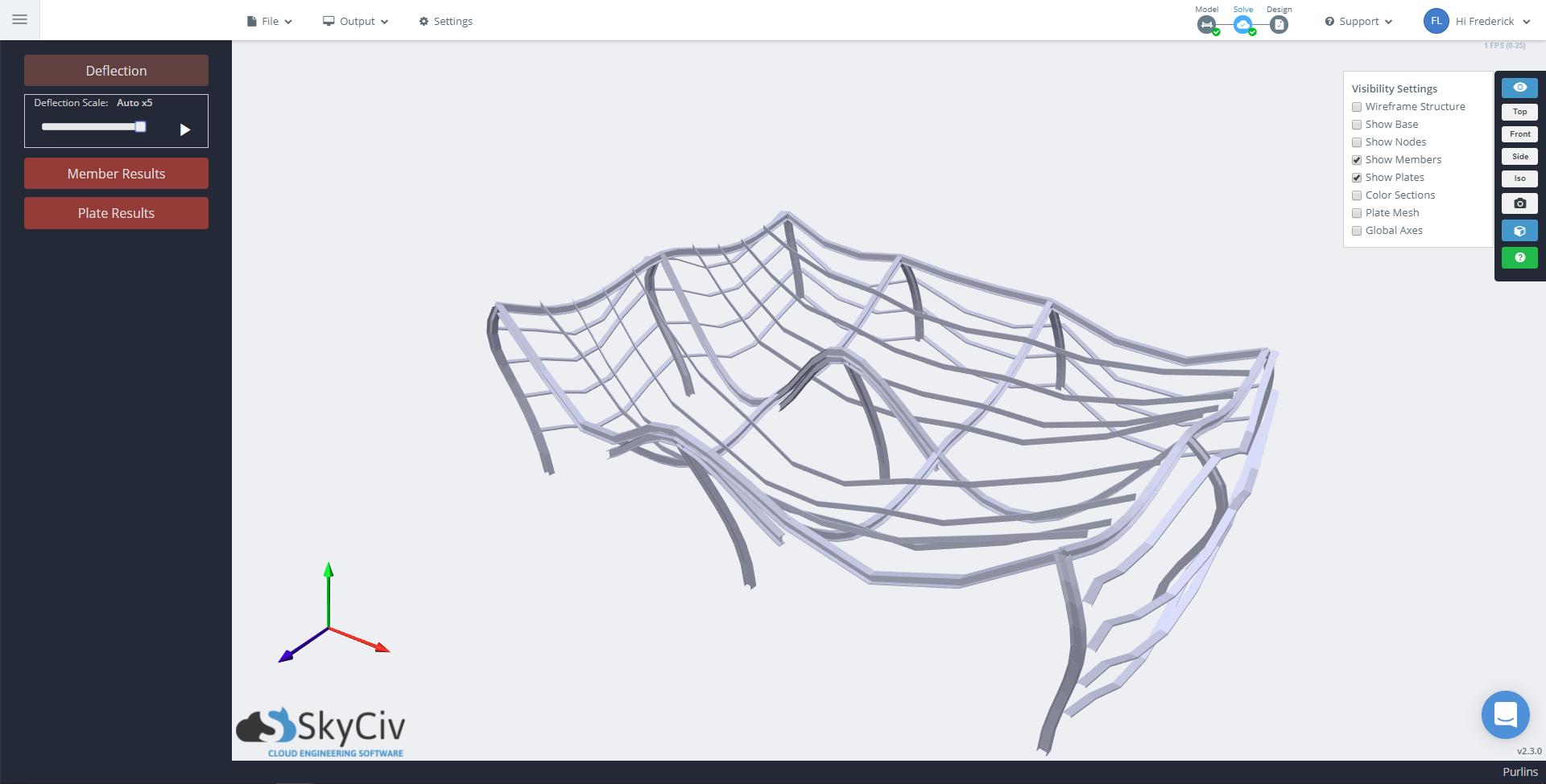 SkyCiv Wolke Structural Analysis Software – Stahldachrahmen