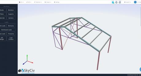 Green house frame render