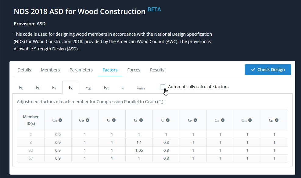 wood design software automatic calculations
