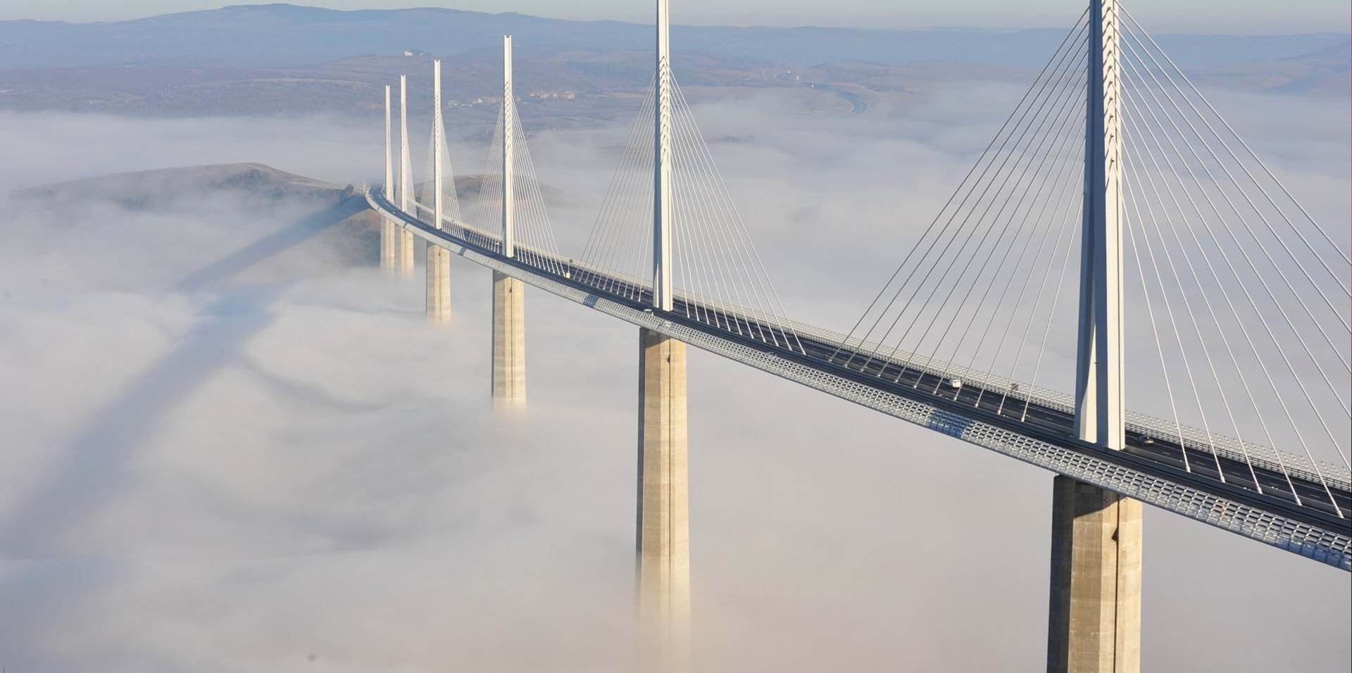 inspiring bridge designs by SkyCiv - Millau Viaduct in France