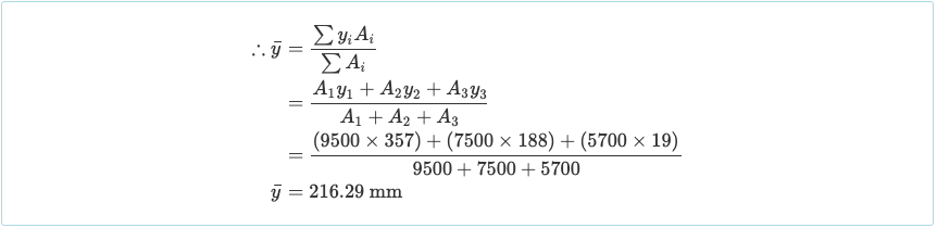 Calculate the Centroid of a Beam Section - 2