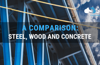a comparison between wood steel and concrete