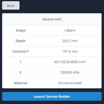 SkyCiv Beam Section Builder