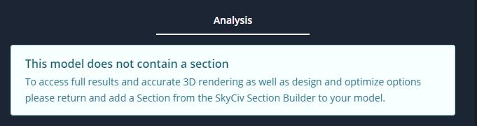 SkyCiv Beam No Section