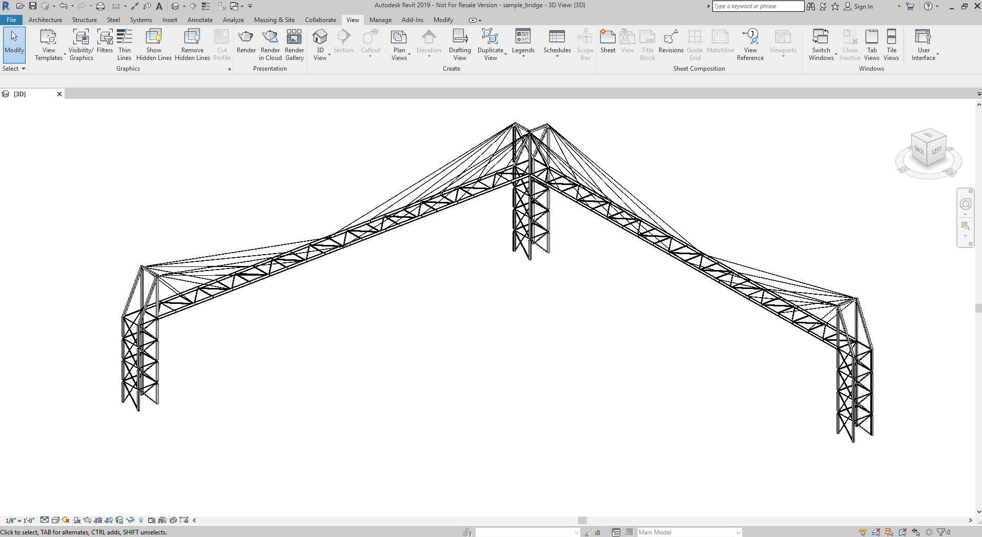Autodesk Revit imported from a SkyCiv Structural 3D model