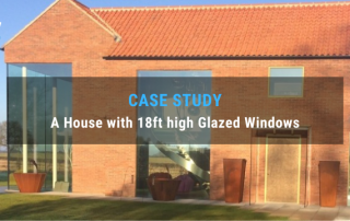 SkyCiv case study - How Struct-Sure Limited Designed a House with 18ft high Glazed Windows