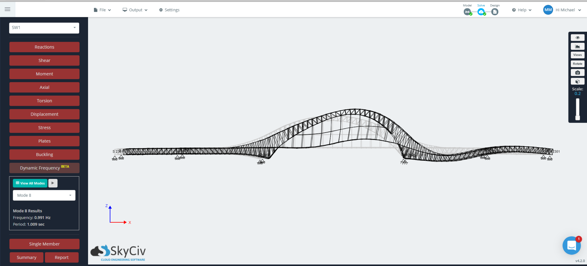 bridge-modal-results-skyciv-structural-analysis-software