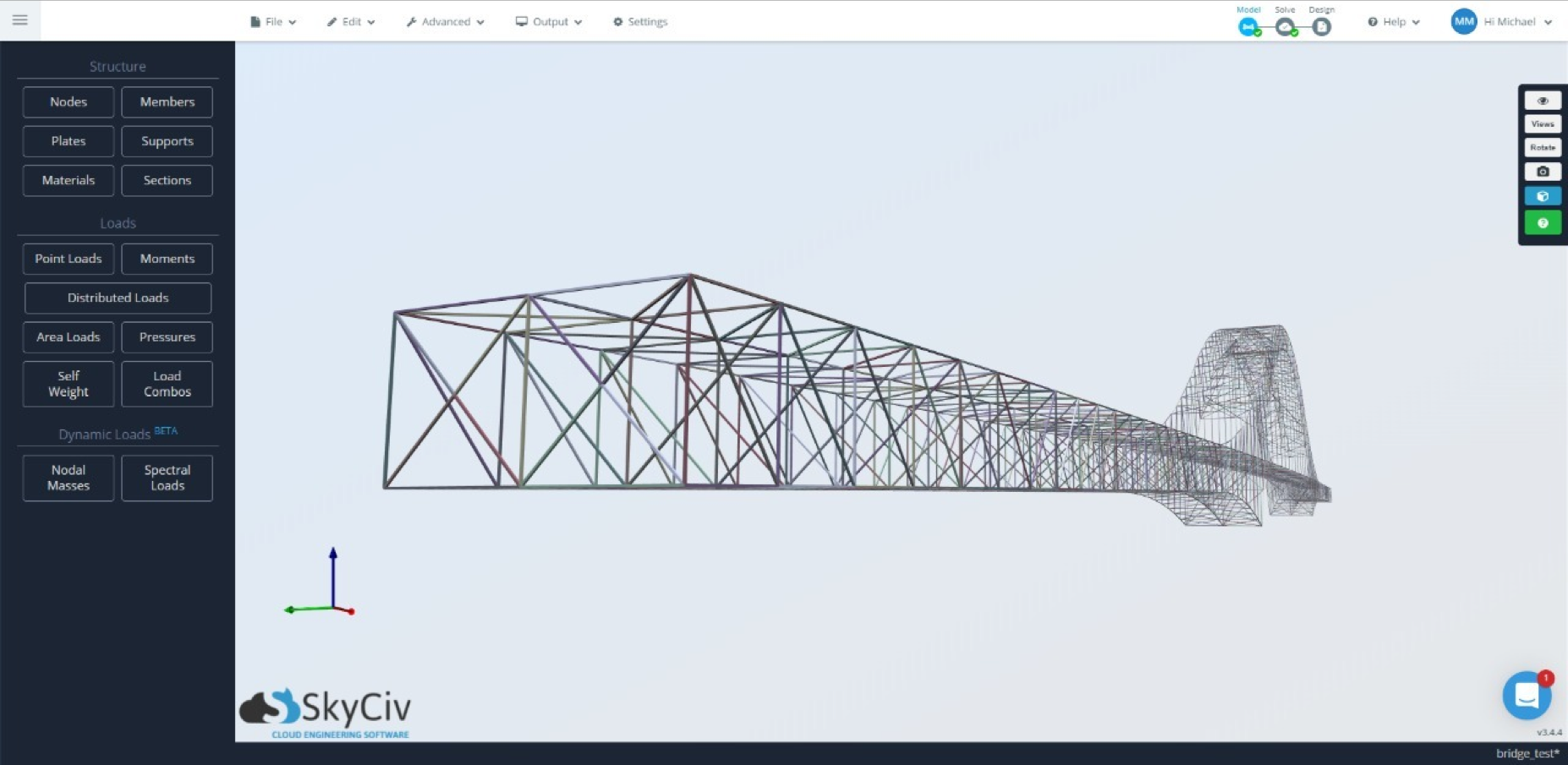 bridge-model-skyciv