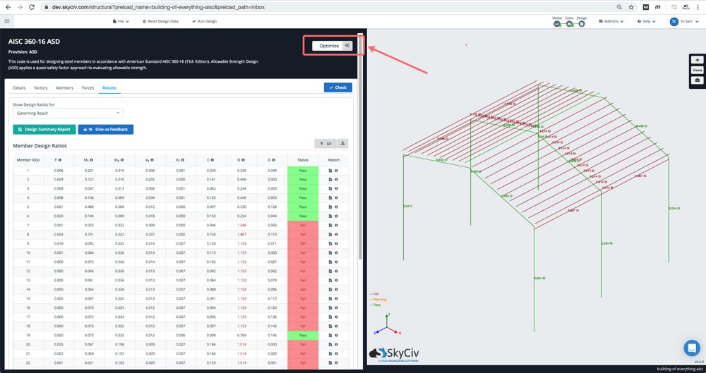 aisc-member-design-optimization-run-failed-result