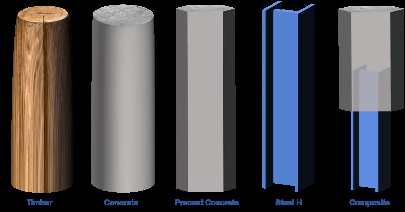 piles-types-materials