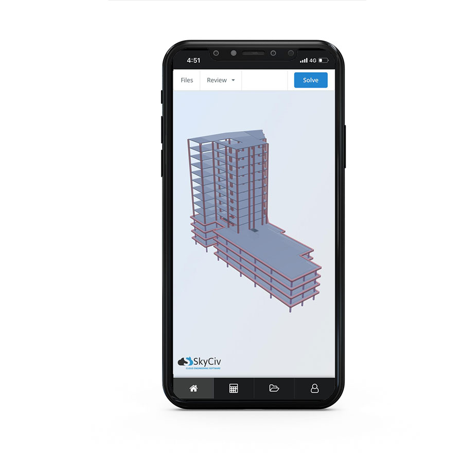 skyciv has a structural analysis and design mobile app for applie ios and android devices