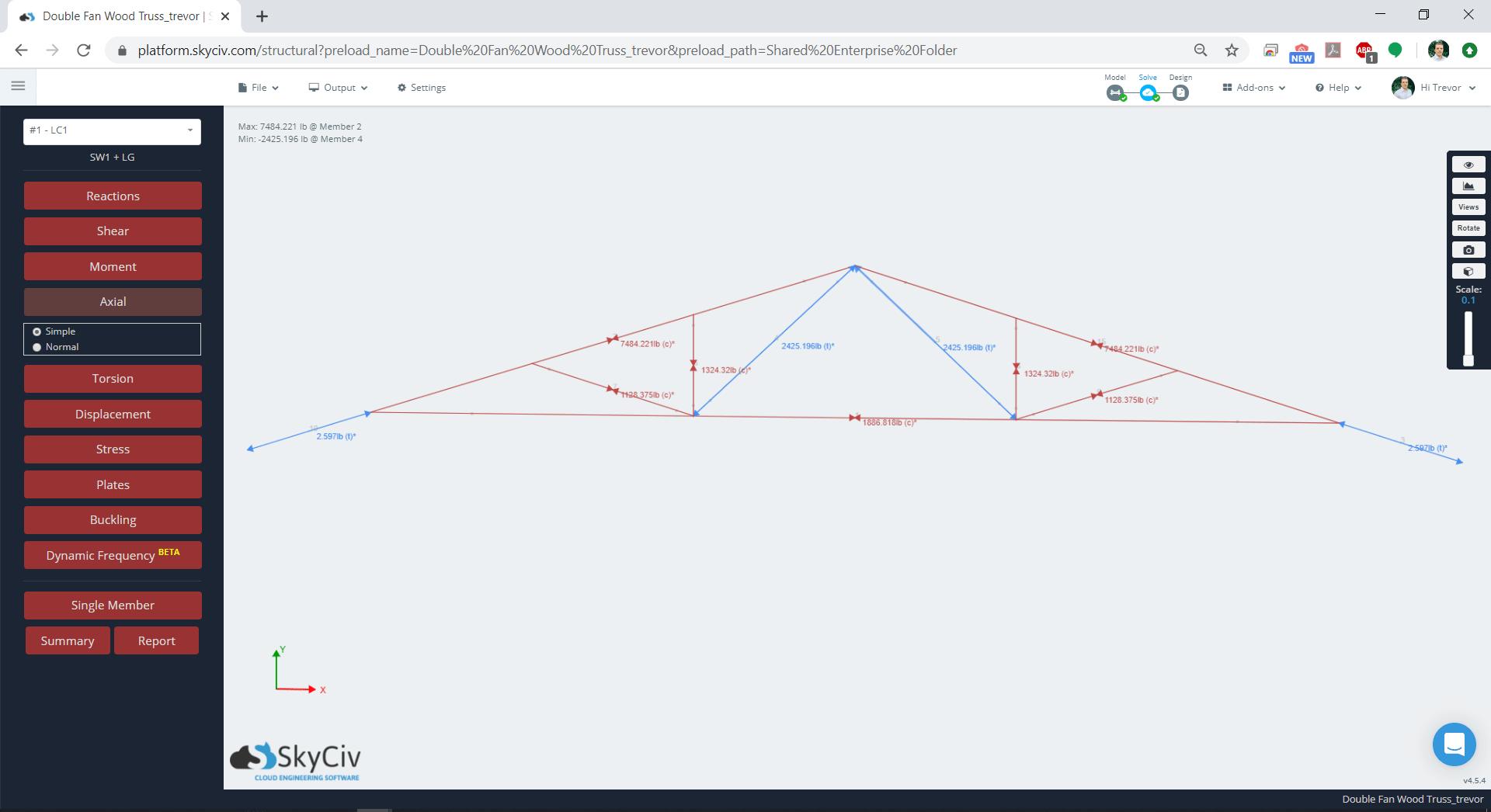 SkyCiv Truss FEA Analysis