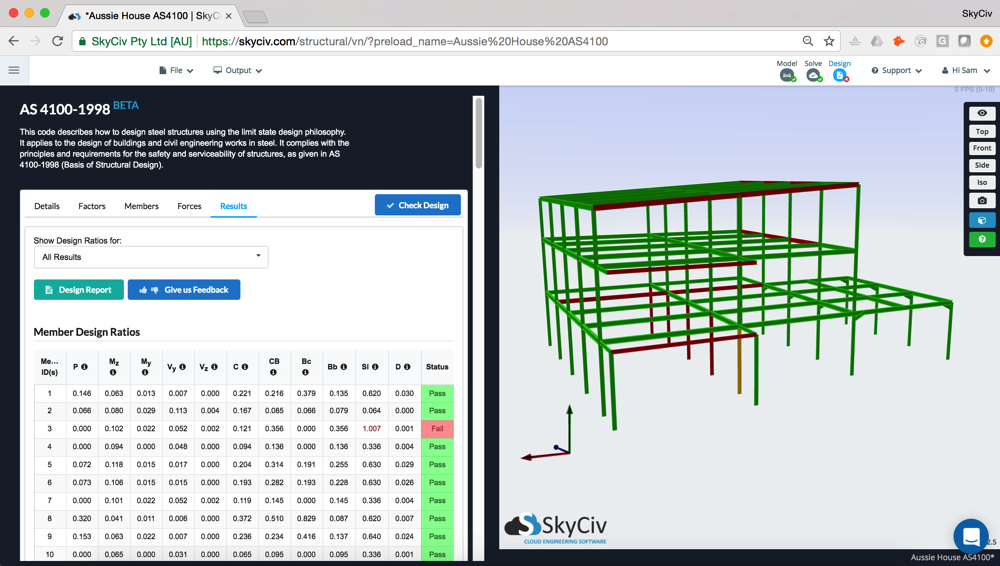 AS-4100 design software integrated SkyCiv