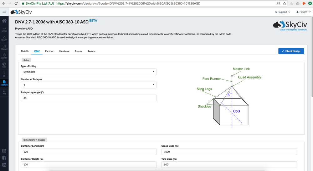 SkyCiv DNV-271 Free Design Software Standalone