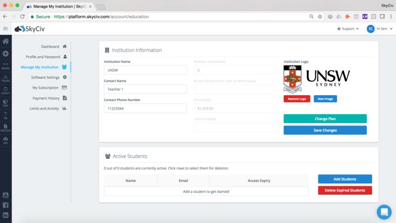 SkyCiv Education Portal