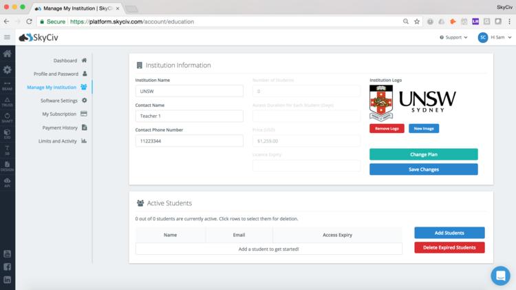 SkyCiv Education Portal For Educators Teachers Universities