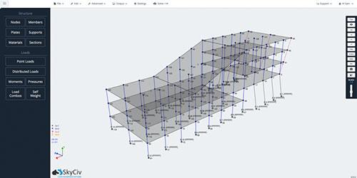 SkyCiv Frame Online Tool