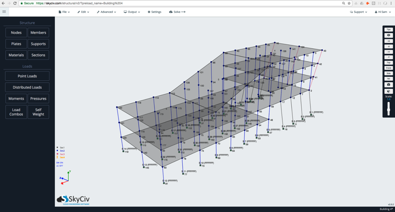 SkyCiv Structural Analysis Software 3D Building