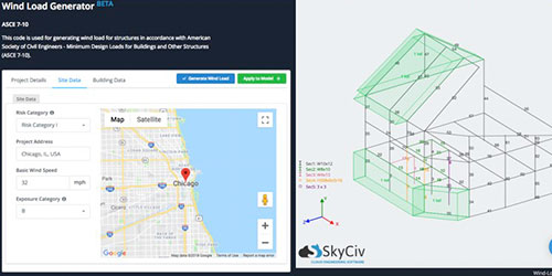 SkyCiv Wind Software, Map Wind Load Analysis Software