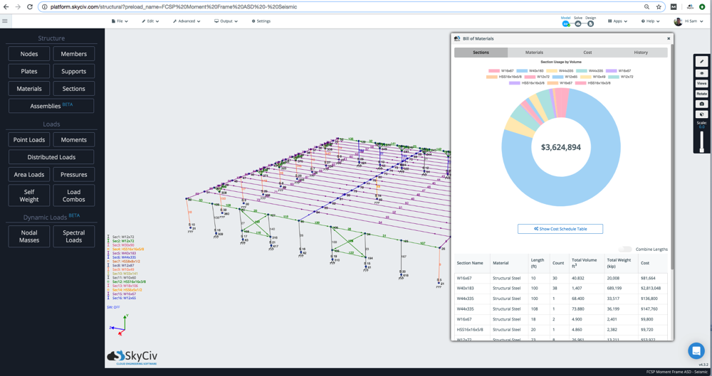 bill of materials structural analysis software