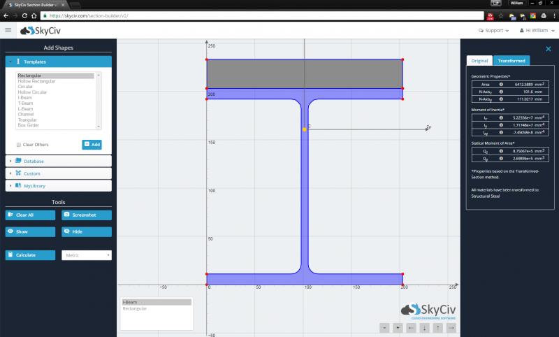 SkyCiv Composite Beam