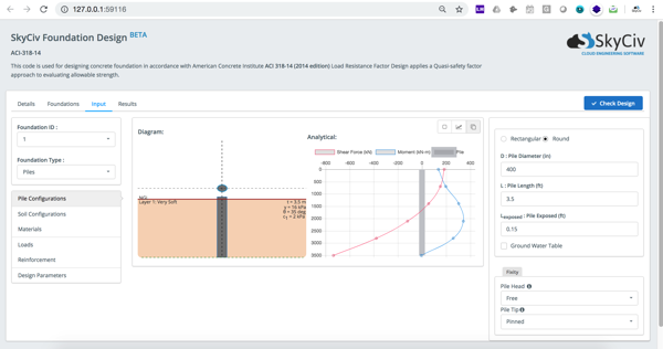 Pile Design Software Online SkyCiv