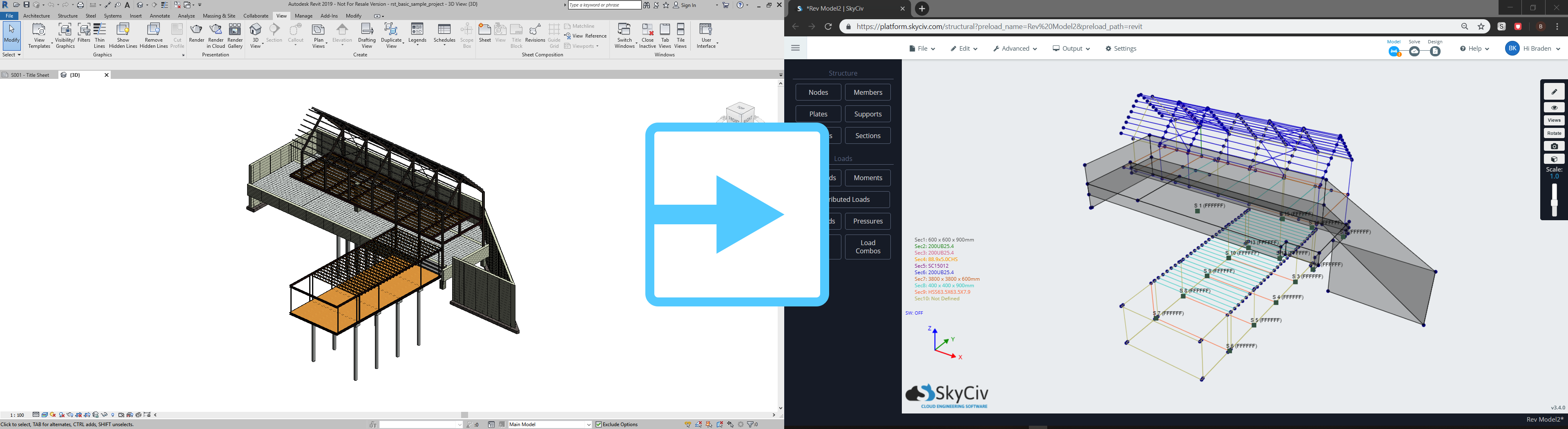 Revit to SkyCiv Software
