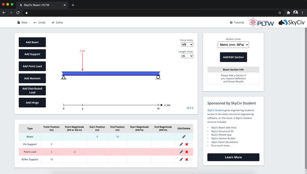 PLTW uses SkyCiv for internal tools