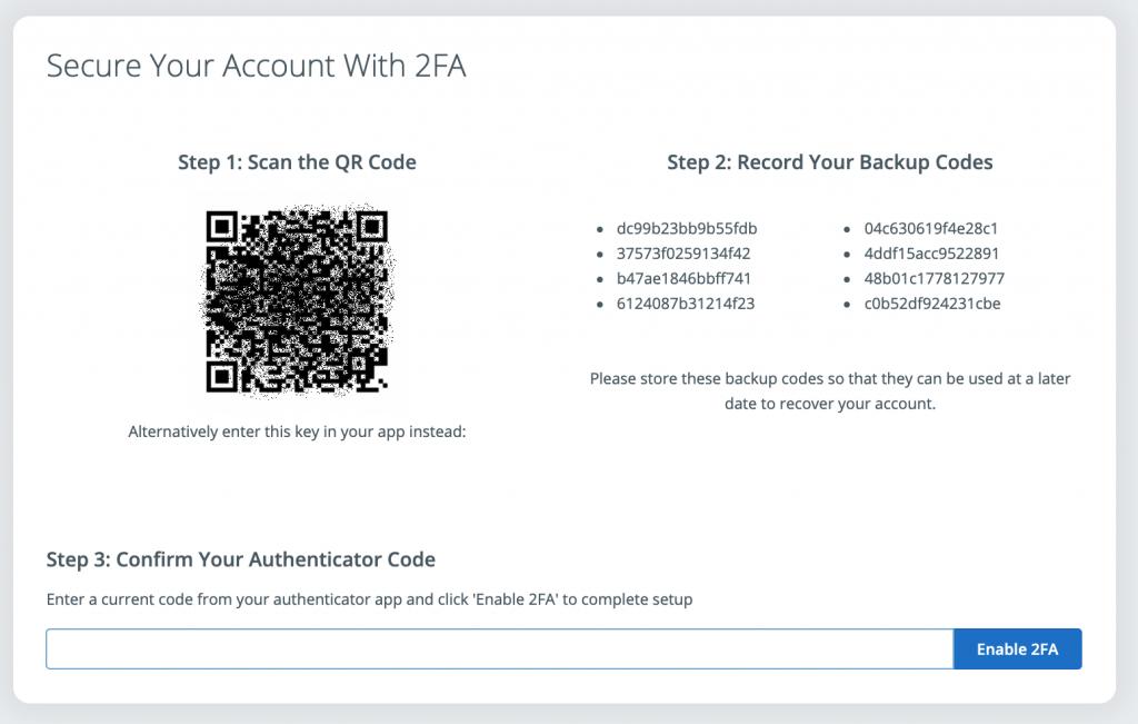 SkyCiv two factor authentification