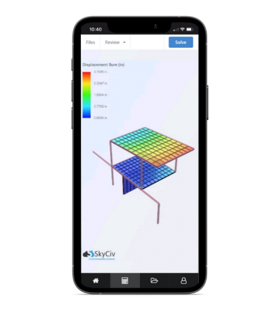 skyciv structural analysis software on mobile