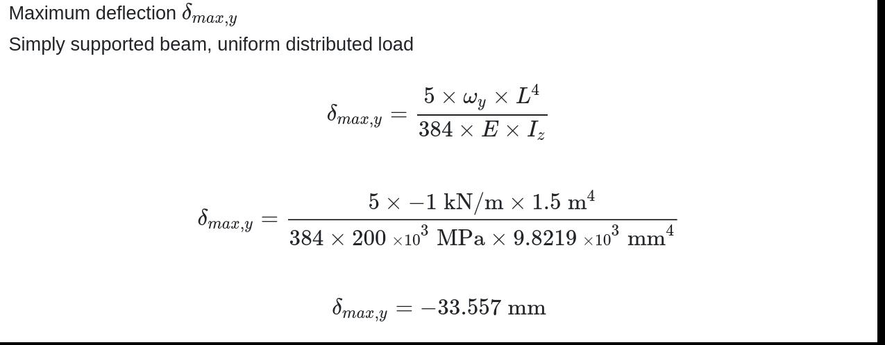 asymmetrical section calculation